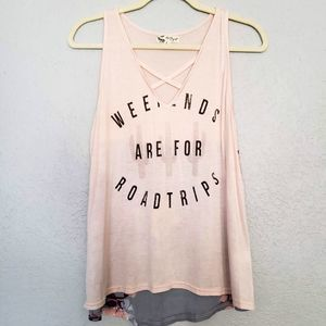 About a Girl Floral Tank - L